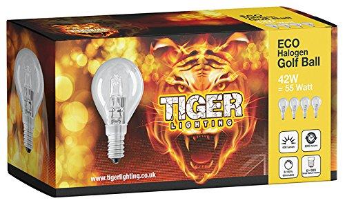 Preisvergleich Produktbild 8 PACK 42 W G45 (SES) Kleine Edison-Schraube (E14) Eco Halogen dimmbar Golf Ball / Mini Globe Glühbirne,  42 Watt entspricht 60 Watt,  2000 Stunden Lange Lebensdauer Halogen Glühlampen,  630 Lumen Ausgang.