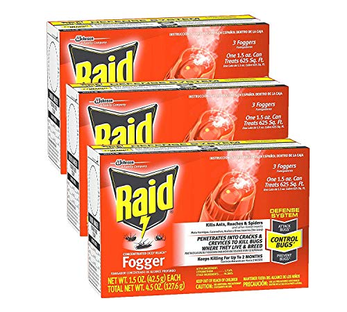 Raid Concentrated Deep Reach Fogger, 1.5 OZ, 3 CT (Pack - 3)
