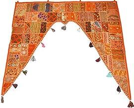 GANESHAM decoración India para el hogar, étnico, para Colgar en la Pared, Vintage, Cenefa de Puerta Bordada a Mano, cenefas de Ventana, decoración de Puerta con Cuentas Toran