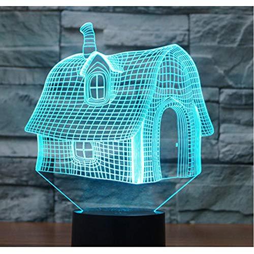 3D Luz De Noche Led lámpara para habitación infantil 3D illusion light mejor regalo de para niños y niñas Con interfaz USB, cambio de color colorido