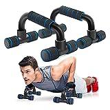 YSISLY Soporte de barra de flexión con mango de espuma para prensa de pecho en casa, gimnasio, ejercicio, entrenamiento de fuerza (negro y azul)