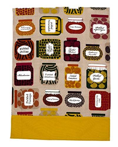 THREAD SPREAD 100% Cotton Set of 2 Kitchen Towels, Confiture Collection Designed in France 20 - inch by 27.5 - inch
