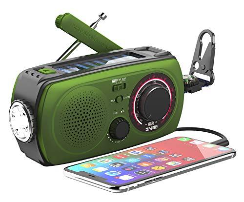防災ラジオ VMEIラジオ 小型、照明器具、ライト、手動クランク充電、USB充電、防災、2000mAH、地震、津波、台風、停電、緊急保護、iPhoneと互換性があります、Android、スマートフォン充電、手巻きラジオマニュアルが含まれています