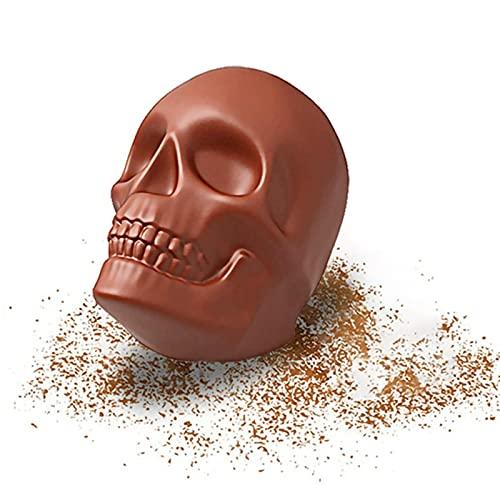 Silicone Bread Baking Mould,GroßE Totenkopf-Kuchenform Halloween Maske Kuchen Backen Diy Form Antihaftbeschichtete Silikonbackform 32X24X9.6Cm (Braun)