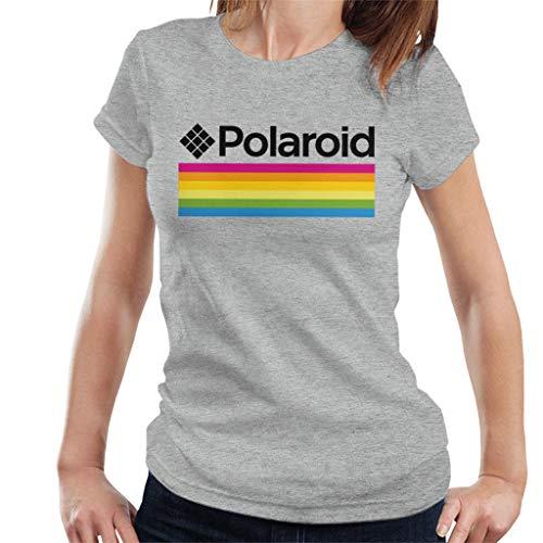 Polaroid Logo Women's T-Shirt, Gray, Blue oe White, S to XXL