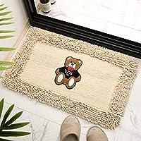 厚手のフロアマットドアマット家庭用寝室キッチンドア吸収性バスルーム滑り止めフロアマット50 * 80cmベージュ