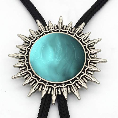 BOLO-lazo, lazo colgante cúpula de cristal hechos a mano, accesorios de camisa...