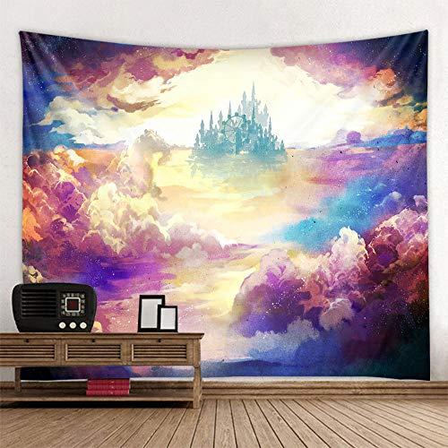 bjyxszd Decoración de Dormitorio Alfombrilla para Yoga Toalla para playaTapiz de Tapiz de Cielo Estrellado psicodélico, Tapiz de impresión Digital de Tela de Fondo-5_Los 230cm los x180cm