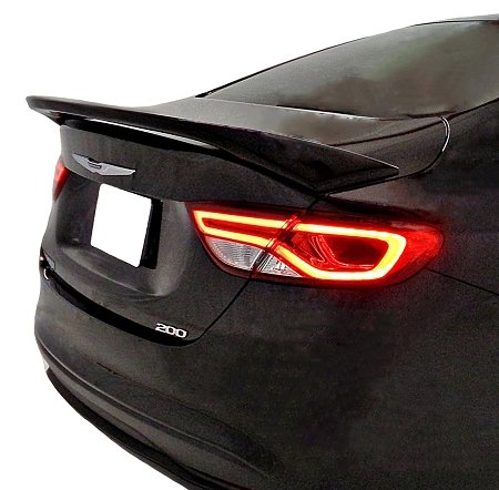 Accent Spoilers - Spoiler for a Chrysler 200 4-Door Factory Style Spoiler-Black Paint Code: PX8