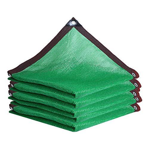 YLL Filet D'ombrage Vert 90%, Toile D'ombrage Ajourée,Filet D'ombrage Terrasse, Toile D'ombrage Serre, Rectangulaire Filet D'ombrage pour Jardin Plantes Cour Toit(Vert),2x4m(7 * 13ft)