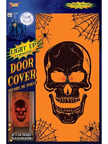 Light Up Skull Door Cover Halloween Decoration.