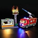JOND Kreative DIY Lighting Kit Für Lego 60214, USB Technische LED-Licht Set Für City Burger Bar...