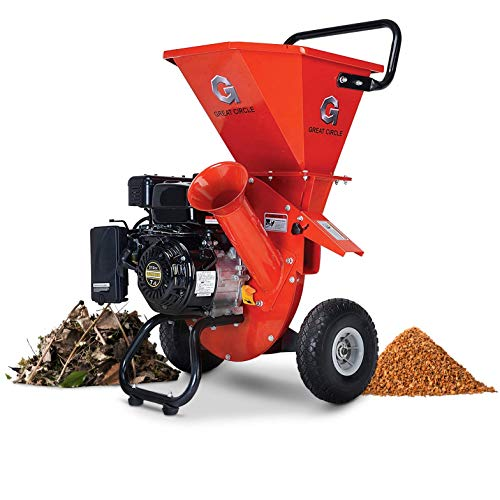 "GreatCircleUSA Wood Chipper Shredder Mulcher Heavy Duty 212cc Gas Powered 3 in 1 Multi-Function 3"" Inch Max Wood Diameter Capacity EPA/CARB Certified Aids in Fire Prevention - Building a Firebreak"