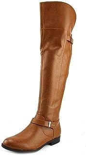 حذاء برقبة طويلة للسيدات من Bar III مطبوع عليه Daphne مغلق عند الأصابع حتى الركبة، موديل Banana Bread، مقاس 5. 0