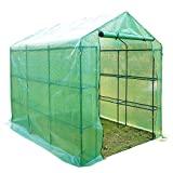 Outsunny 8' x 6' x 7' Portable Water Resistant Outdoor Walk-in Greenhouse with 18 Shelves and Roll-Up Door