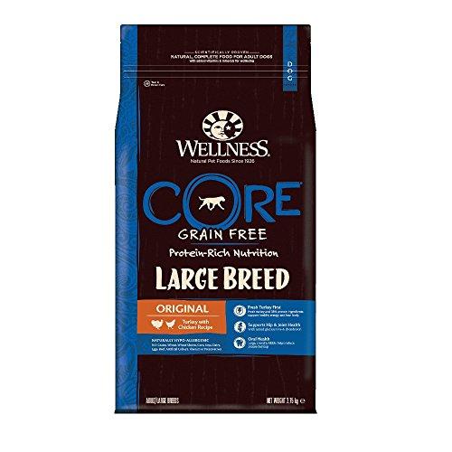 Wellness CORE Large Breed Hundefutter Trocken, Getreidefrei Hoher Fleischanteil, Große Rassen, Pute und Huhn, 2,75 kg