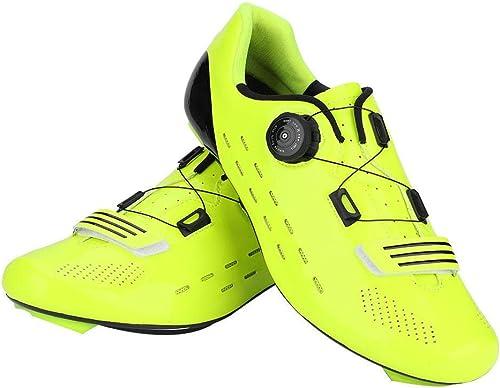 Alomejor 1 Paire de Chaussures de Cyclisme sur Route, Chaussures de vélo de Montagne de Sports de Plein air de Poids léger 39-45