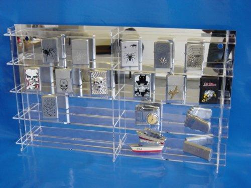 Setzkasten speziell für Zippo Feuerzeuge aus Acrylglas SL012 Rückwand Spiegel