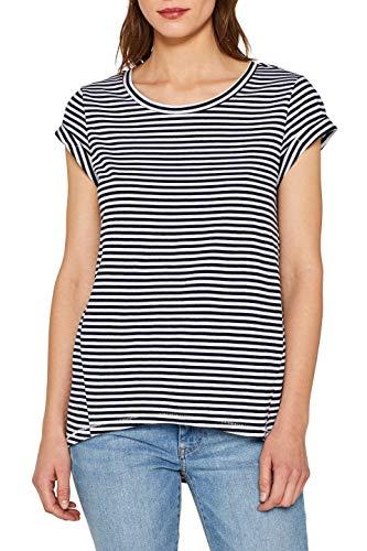 edc by ESPRIT Damen 059Cc1K003 T-Shirt, Blau (Navy 400), Small (Herstellergröße: S)