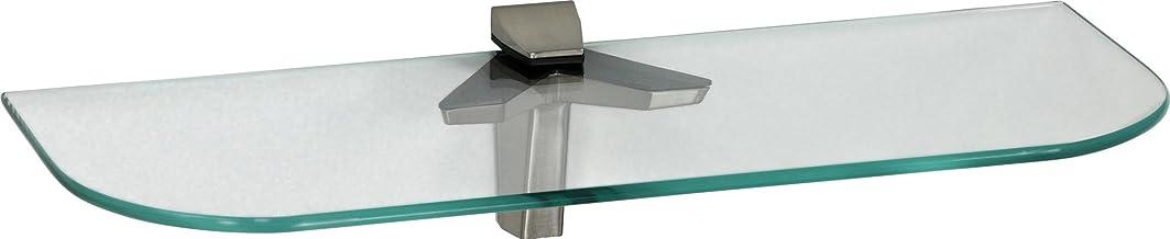 ib style® Glaspaneel 6 mm - zwevend Wandrek Wandpaneel | incl. clips DUO RVS Look | afgeronde hoeken | 8 afmetingen | MATG...