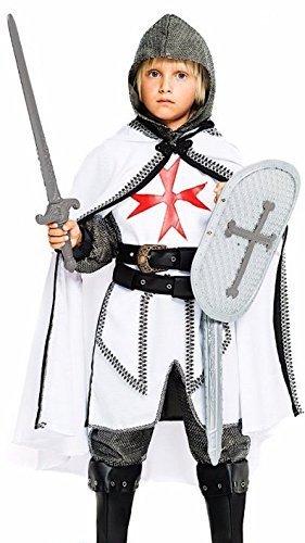 Fancy Me Italienische Herstellung 7 Stück Jungen Ritter mit Schild und Schwert Karneval büchertag Woche Halloween Kostüm Kleid Outfit 4 bis 10 Jahre - 10 Years