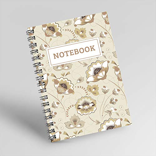 Light brown Notebook: is a helpful notebook for cooking and a simple flower cover |size 6x9| |200 pages| (English Edition)