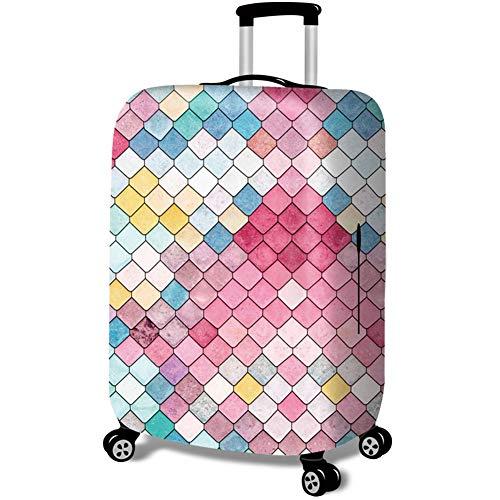 MISSMAO_FASHION2019 Kofferschutzhülle Kofferschutzbezug Gepäckschutz Kofferbezug Kofferhülle Dauerhaft Waschbarer Sitz für 18-32 Style1 L(Fit 26-28 Zoll Koffer)