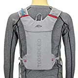 LIUZKH Mochila de hidratación ligera para correr, ciclismo, senderismo, esquí, montar en motocicleta (gris)
