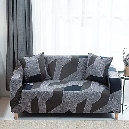 MKQB Funda de sofá telescópica elástica, Funda de sofá de Esquina en Forma de L para Sala de Estar, Funda de sofá Antideslizante para protección de Mascotas n. ° 3 M (145-185cm