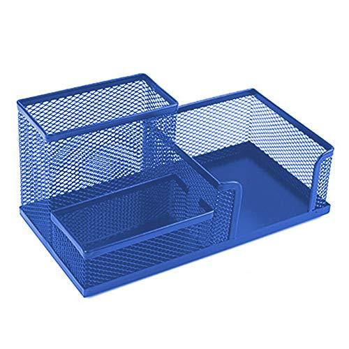 Hirkase Schreibtisch Organizer, Schreibtisch Tidy Mesh Tidy Organizer, Tisch-Organizer Multifunktions -Organisator Metall (Blau)