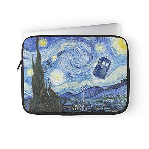 Doctor Van Smith Who Matt Night Starry Gogh Laptop Sleeve Bag Compatible with MacBook Pro, MacBook Air, Notebook Computer, Water Repelle