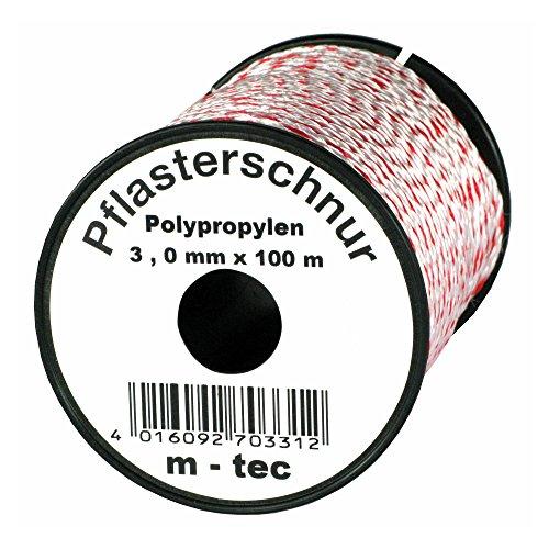 Pflasterschnur 100 m x Ø 3,0 mm Rot-Weiss
