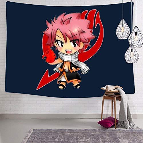 3354 Fa-iry Ta-il - Tapiz para colgar en la pared, diseño de anime, suave y divertido, decoración estética, para habitación de cama de 127 x 127 cm