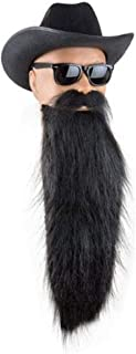 Adult Black ZZ Top Costume Beard