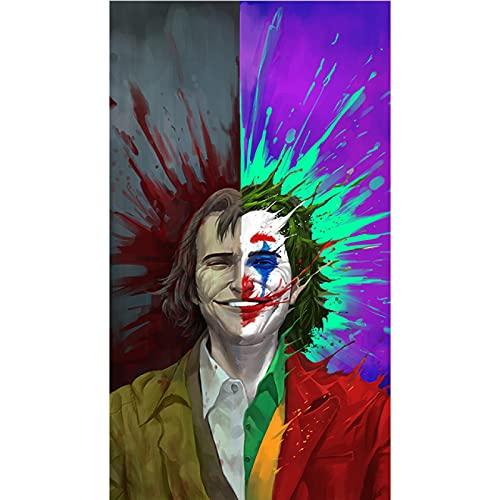 Kemeinuo Cuadros Modernos Póster de Joker Figura de Retrato de Estrella de Cine para Pasillo hogar habitación Arte de Pared decoración impresión y póster 60x90cm