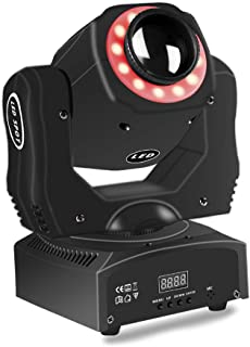 Moving Head Lighting 8 Colors and 8 Gobos Led Mini Dj Stage Lighting Spot Wash Rgbw With 9/11 DMX512 Channel 4 For Disco Ktv Club Party Concert Wedding (85W)