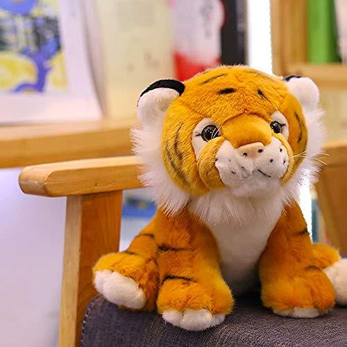 12 cm 1 pc Mini Assis Tigre en Peluche Jouets pour Enfants Enfants Mignon Personnel Poupée Animaux Enfants Cadeau Créatif Décor À La Maison De Noël Cadeau Marron