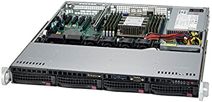 "Supermicro SuperServer 5019P-MT Intel Xeon Bronze 3104, 48GB (6x8GB) ECC RDIMM Memory, 128GB NVMe M.2 SSD, Dual 10G Ethernet, IPMI, 4 x 3.5"" Drive Bays 1U Rackmont Server"