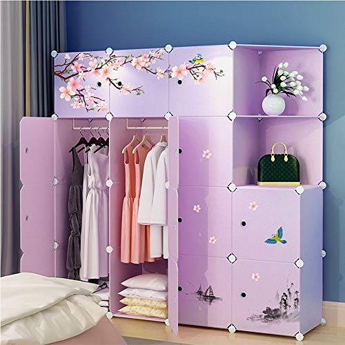 Why Should You Buy Portable Wardrobe Vintage Peach Blossom Designed Modular Cabinet for Space Saving...
