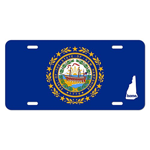 Graphics and More New Hampshire NH Home State Novelty Metal Vanity License Tag Plate - Flag