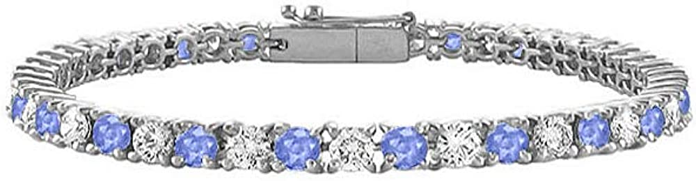 Created Tanzanite and Cubic Zirconia Tennis T 3 Award Bracelet with Animer price revision CT