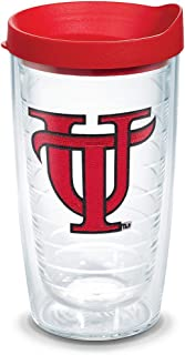 Tervis 1098701 Tampa Spartans Logo Tumbler with Emblem and Red Lid, Tritan, Clear