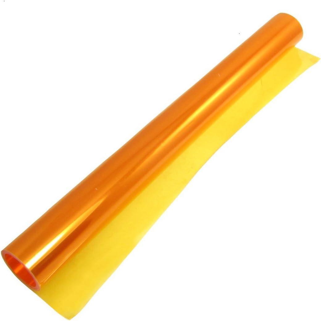 Thg Auto Scheinwerfer Folie Tönungsfolie Aufkleber 30 120cm Calf A Orange Auto