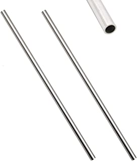 Eowpower 2 Pcs 304 Stainless Steel Capillary Metal Tube Tubing ODxID/8x6mm Length 250mm