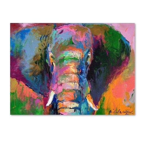 Elephant 2 by Richard Wallich, 35x47-Inch Canvas Wall Art