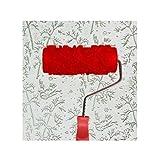 Black Temptation En Relieve Rodillo de Pintura Pintura de Pared Runner Wall Decor Herramienta de Bricolaje, patrón 16