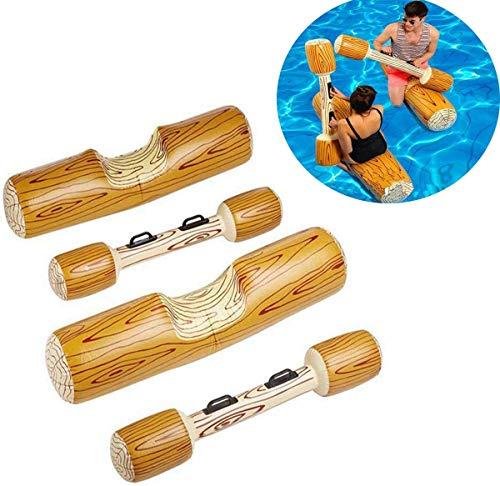 Aufblasbares Spielzeug für Schwimmen, Sportspiele, Wasserspielzeug für Erwachsene, Kinder, Strand, Pool, Floating Flöße Toy für Wassersportspiele, 4-teilig