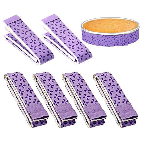 Gobesty Tiras para Hornear Incluso, Correa de protección de bandeja para hornear anti-deformación de 6 piezas para sartén de cocina casera durante la cocción