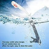 DAUERHAFT Boquilla Tubo de respiración de Buceo Tubo de respiración de Buceo Tubo de respiración de Tubo de respiración Diseño ergonómico, para Buceo, para Pesca submarina(White)