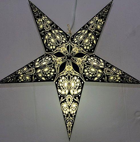 Monarch Paper Star Lantern (Black) by UMTA